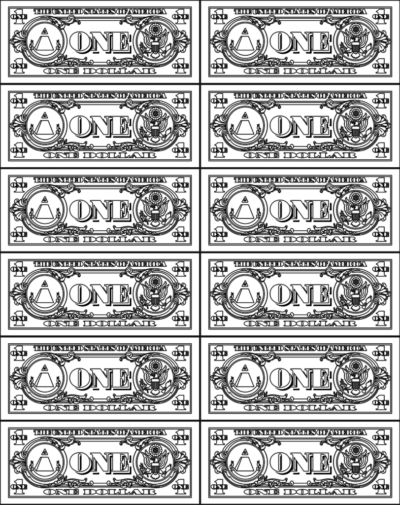 Dollar coloring #8, Download drawings