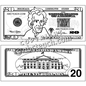 Dollar coloring #3, Download drawings