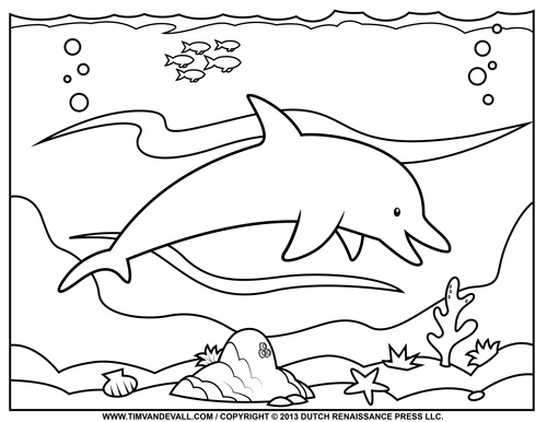 Dolphin coloring #10, Download drawings