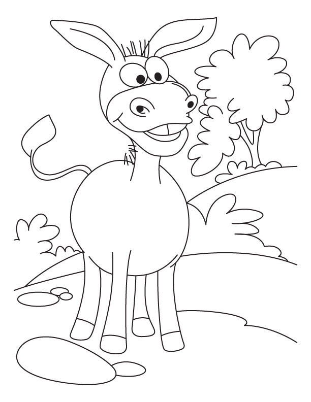 Donkey coloring #11, Download drawings