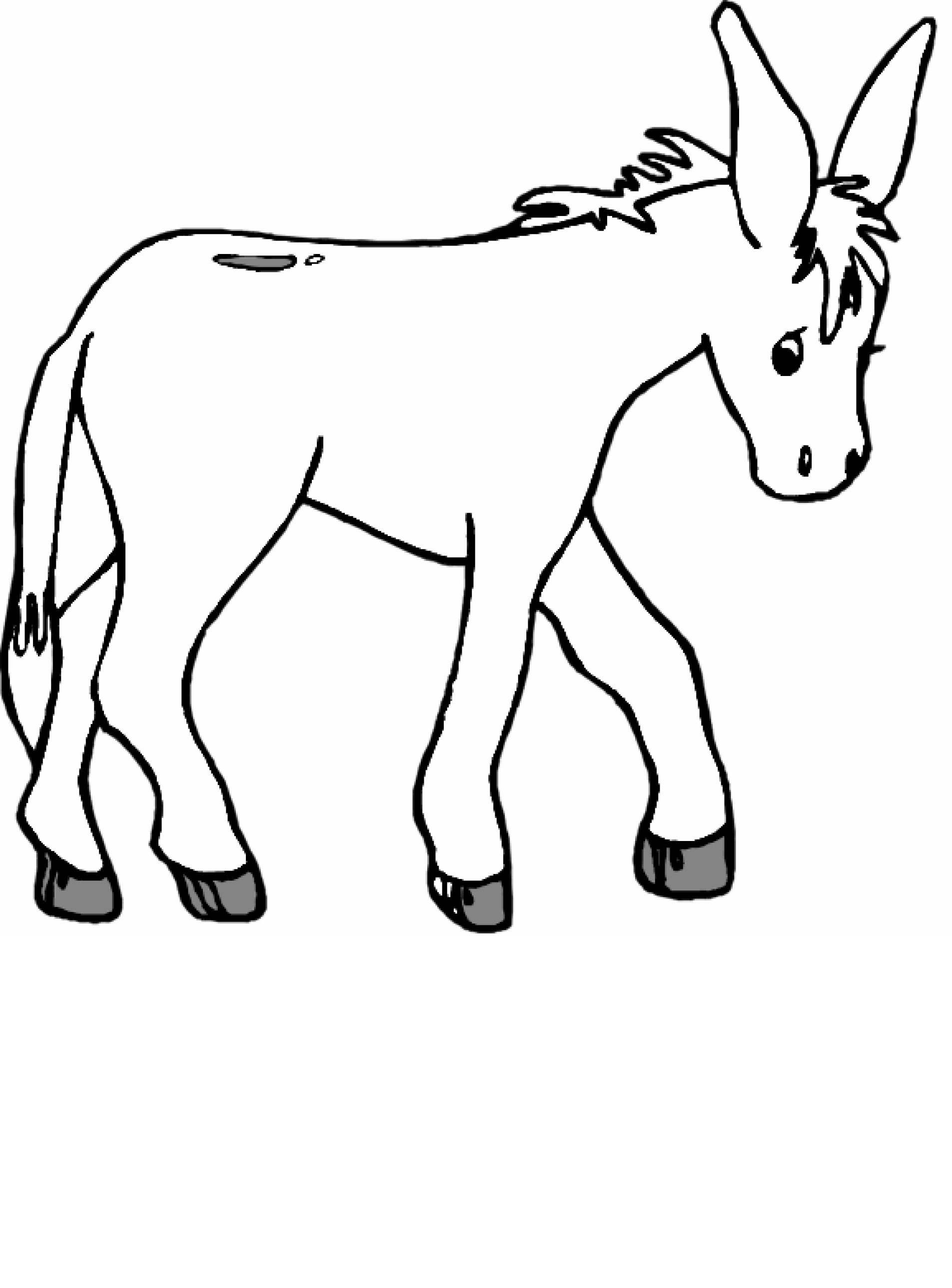 Donkey coloring #7, Download drawings