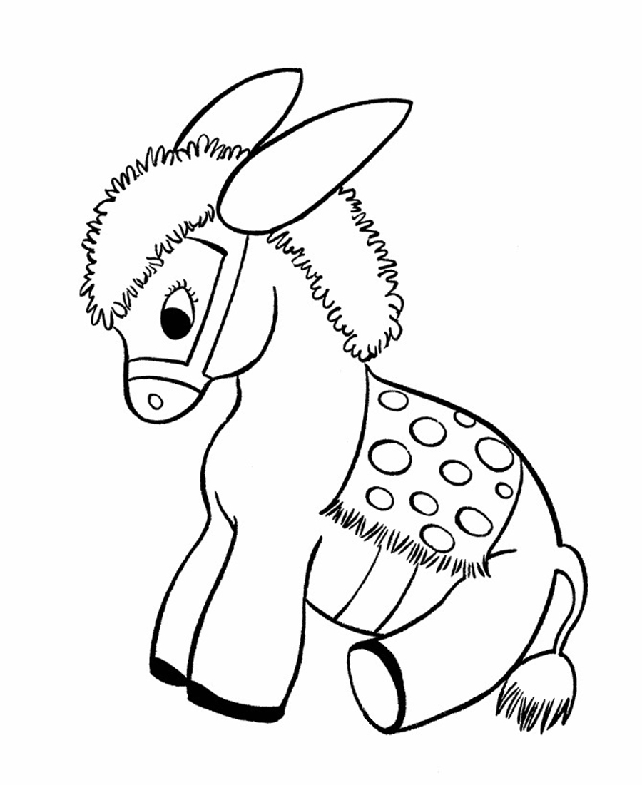 Donkey coloring #16, Download drawings