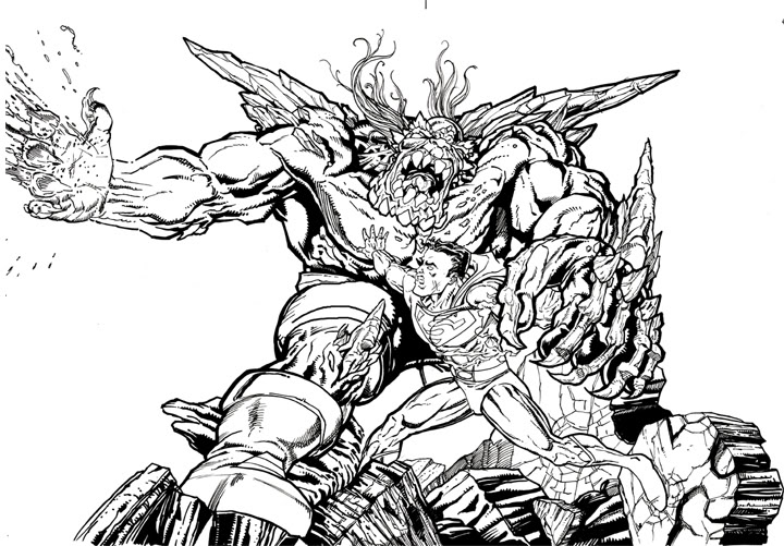 doomsday coloring pages | Superman Doomsday Coloring Pages