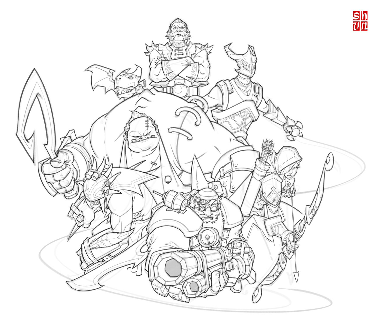 DotA 2 coloring #19, Download drawings