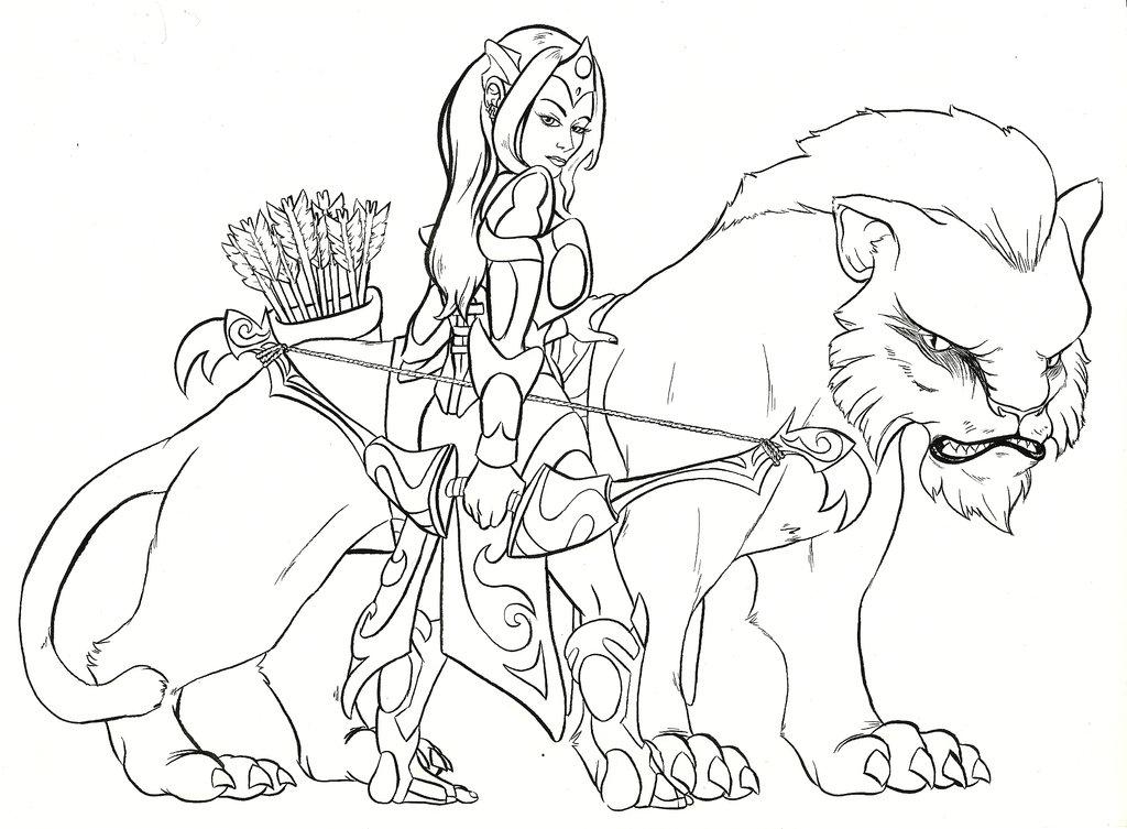 DotA 2 coloring #14, Download drawings