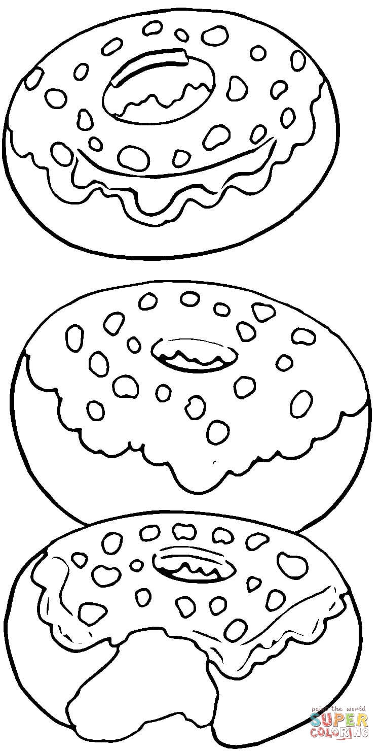 Doughnut coloring #10, Download drawings