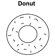 Doughnut coloring #19, Download drawings