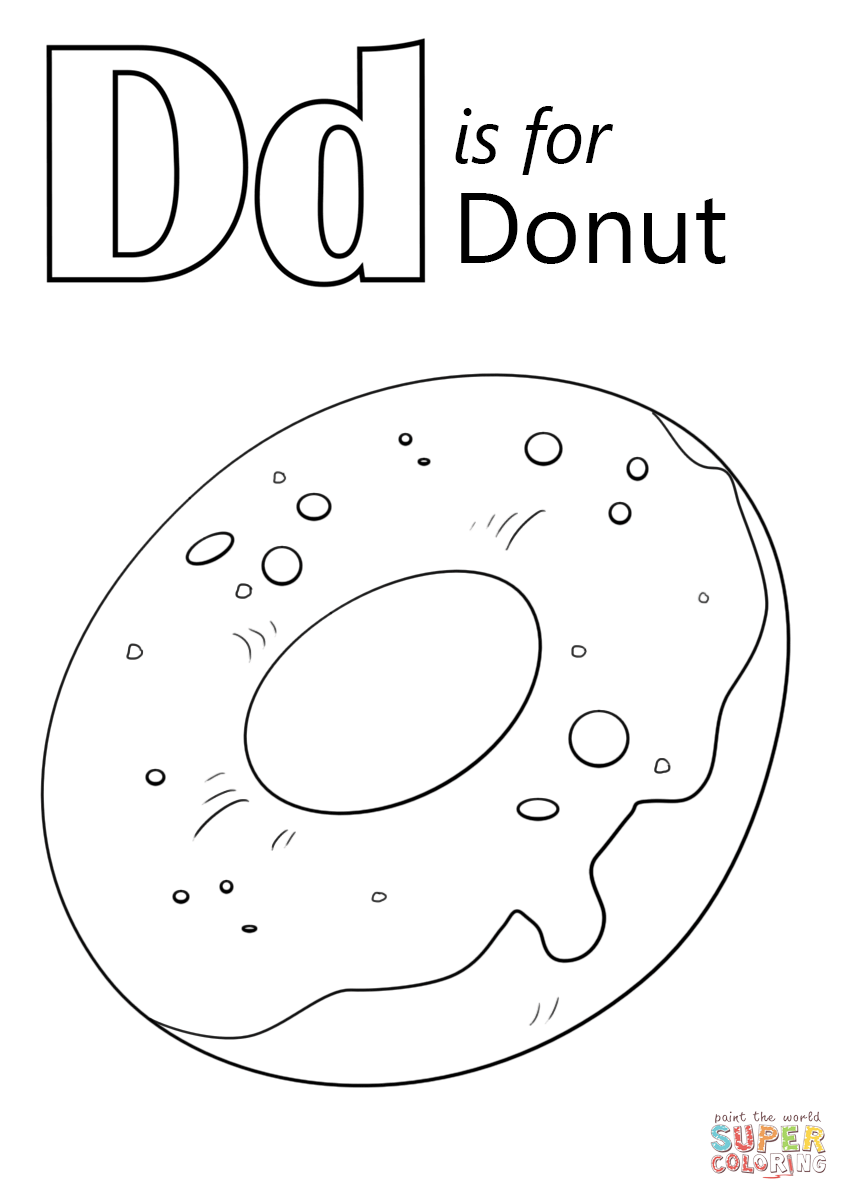 Doughnut coloring #9, Download drawings