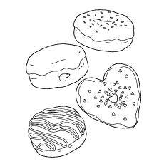 Doughnut coloring #13, Download drawings