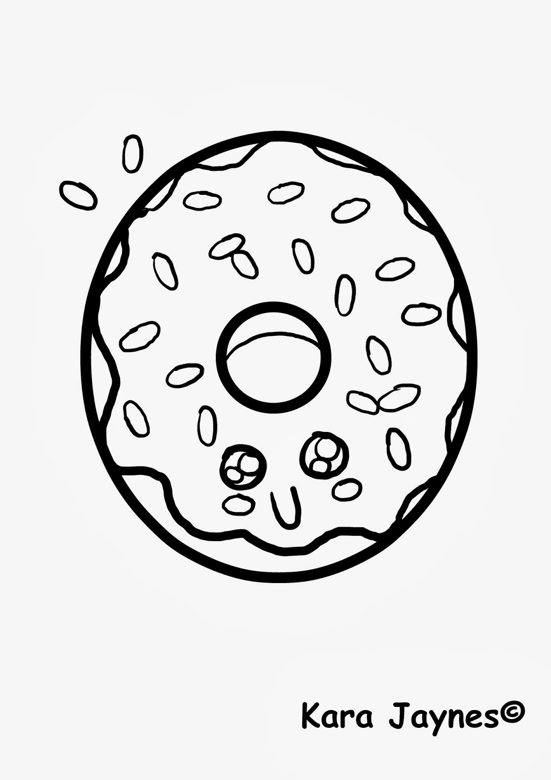 Doughnut coloring #1, Download drawings