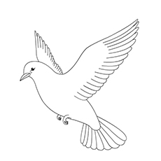 Turtle Dove coloring #10, Download drawings