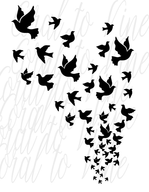 White Dove svg #1, Download drawings