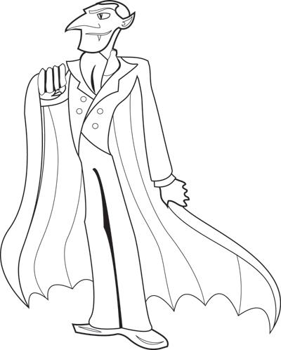 Dracula coloring #3, Download drawings