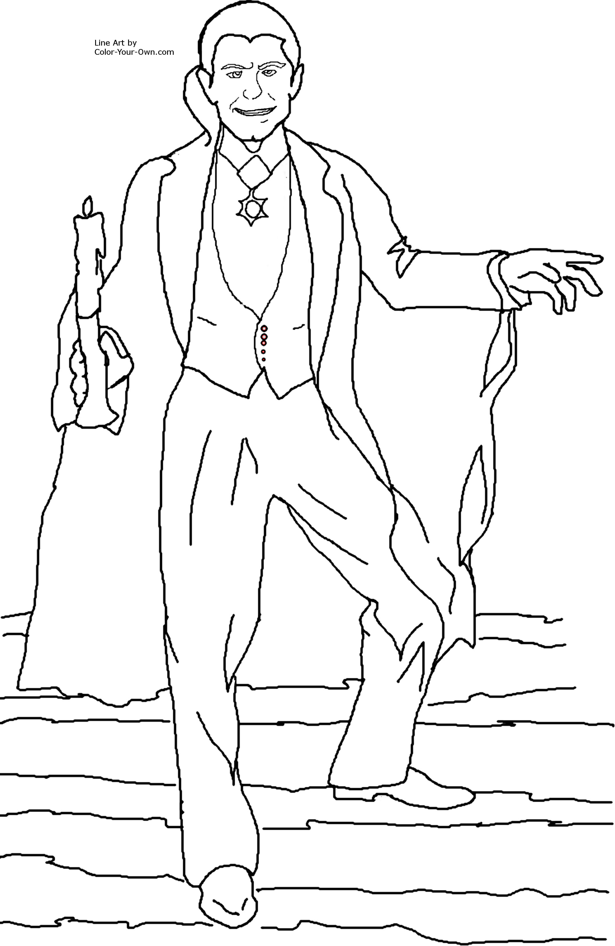 Dracula coloring #10, Download drawings
