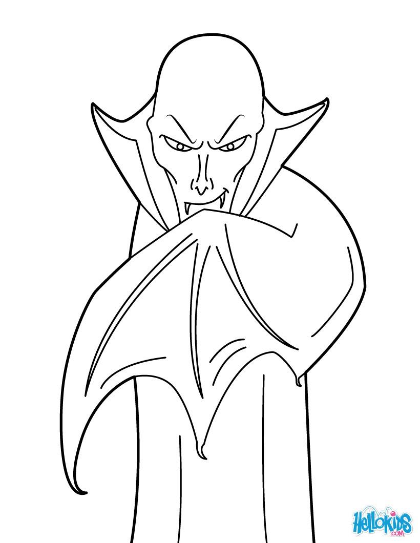 Dracula coloring #7, Download drawings