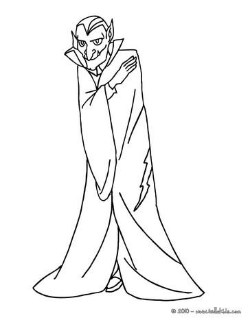 Dracula coloring #2, Download drawings
