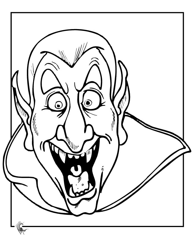 Dracula coloring #15, Download drawings