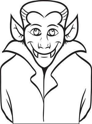 Dracula coloring #16, Download drawings