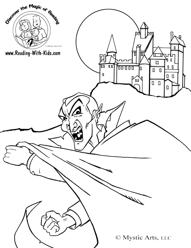 Dracula's Castle coloring #10, Download drawings