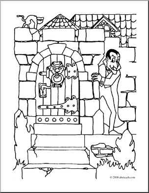 Dracula's Castle coloring #7, Download drawings