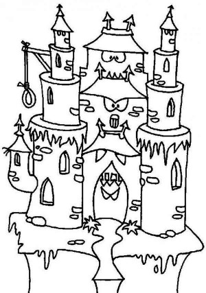 Dracula's Castle coloring #13, Download drawings