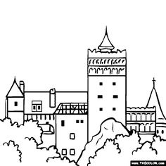 Dracula's Castle coloring #6, Download drawings