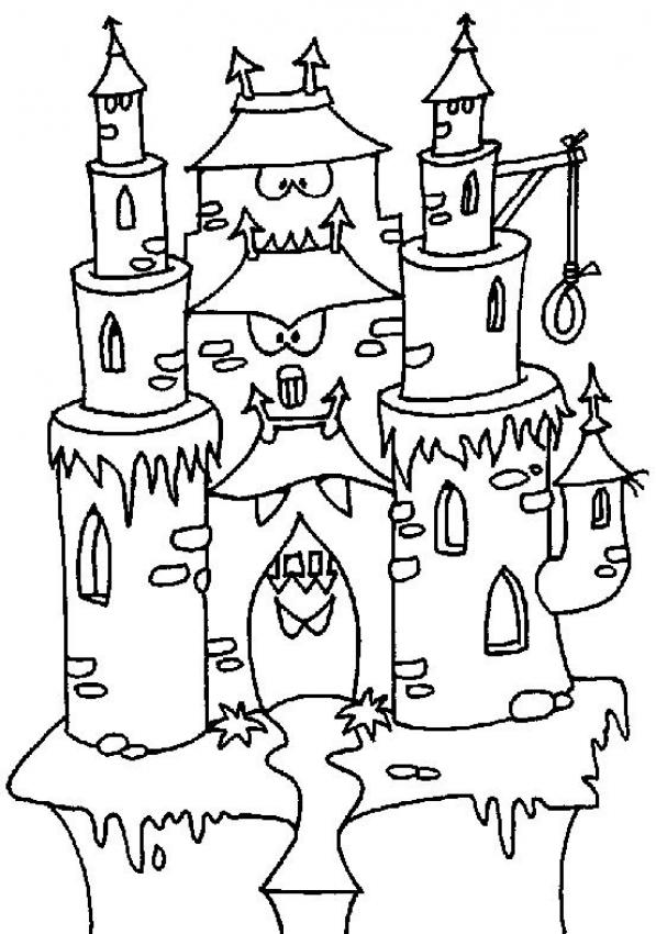 Dracula's Castle coloring #5, Download drawings