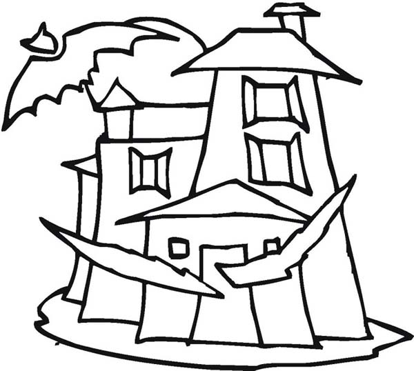 Dracula's Castle coloring #9, Download drawings
