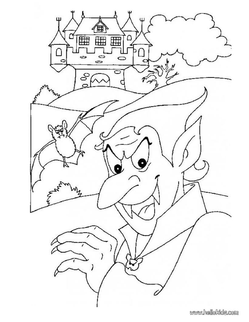 Dracula's Castle coloring #12, Download drawings