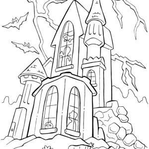 Dracula's Castle coloring #15, Download drawings