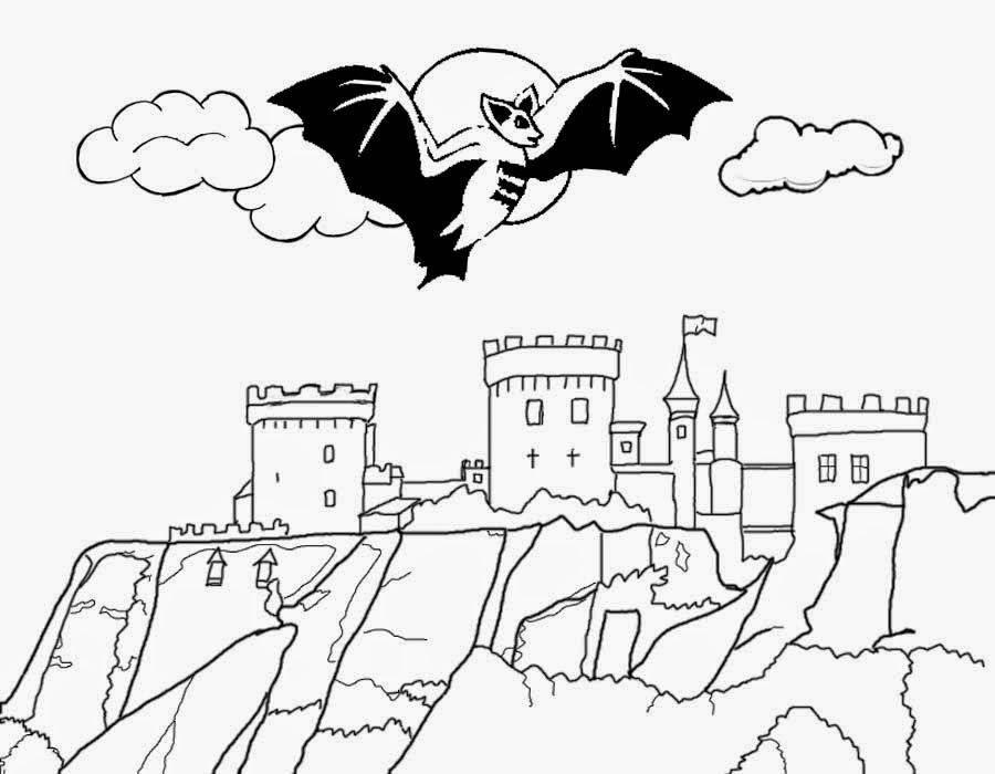 Dracula's Castle coloring #20, Download drawings