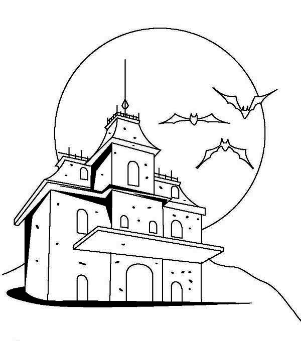 Dracula's Castle coloring #18, Download drawings