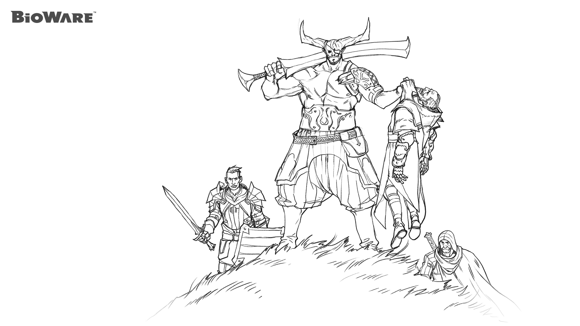 Dragon Age coloring #2, Download drawings