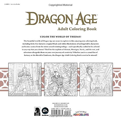 Dragon Age coloring #15, Download drawings