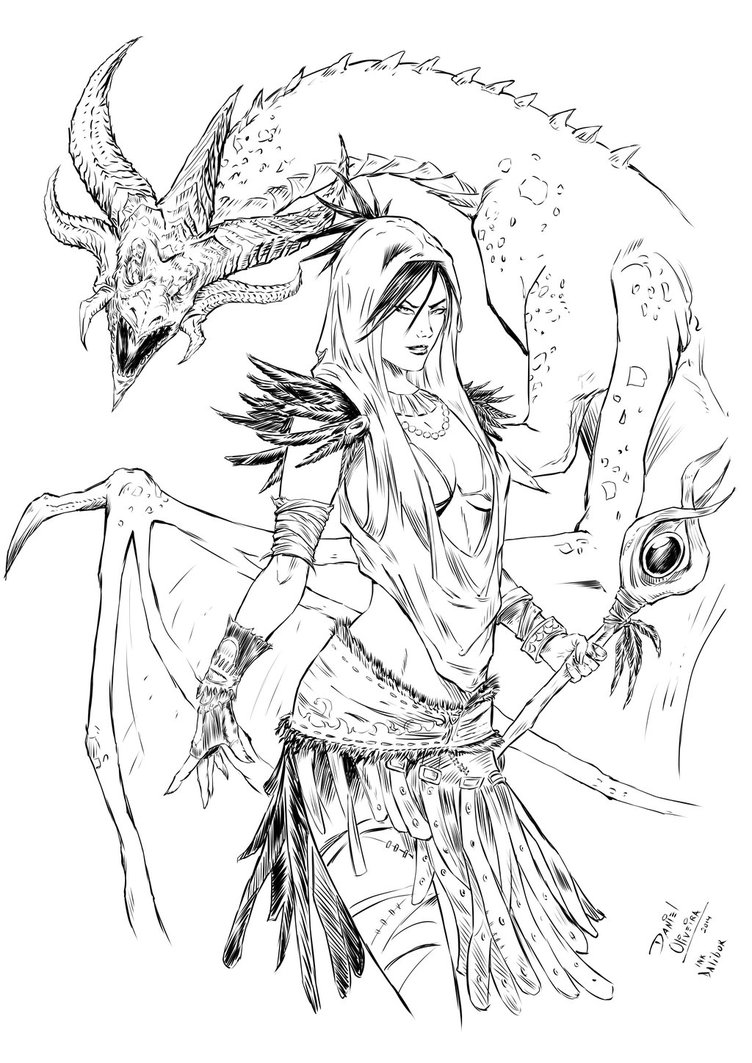 Dragon Age coloring #13, Download drawings