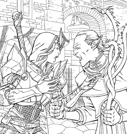 Dragon Age coloring #18, Download drawings