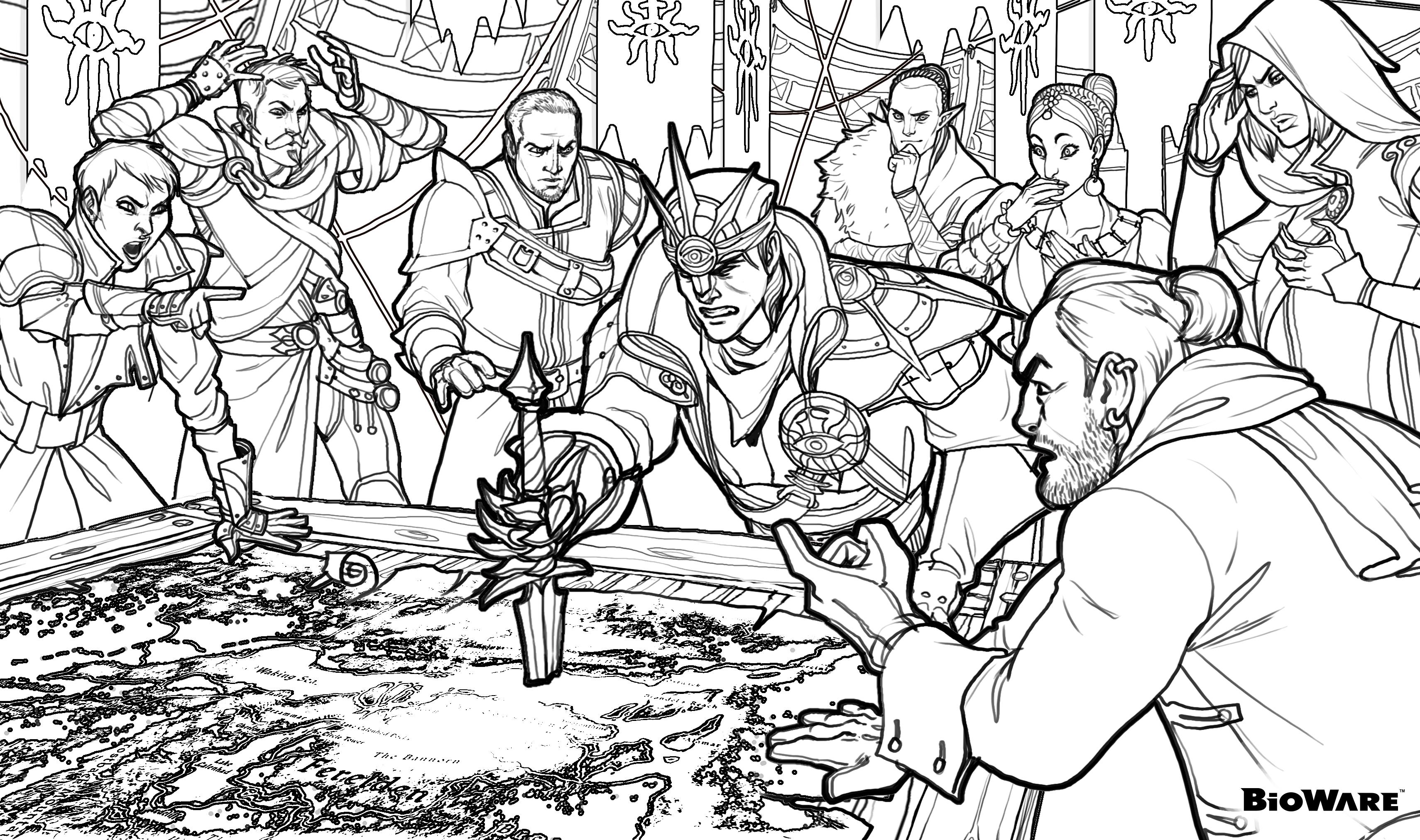 Dragon Age: Origins coloring #1, Download drawings