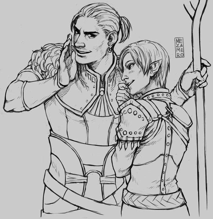 Dragon Age: Origins coloring #2, Download drawings