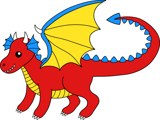 Dragon clipart #1, Download drawings