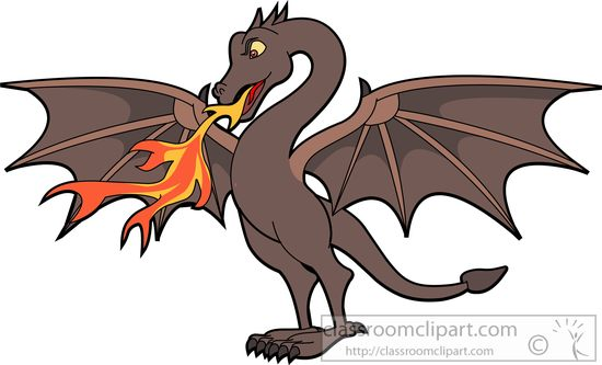 Dragon clipart #3, Download drawings