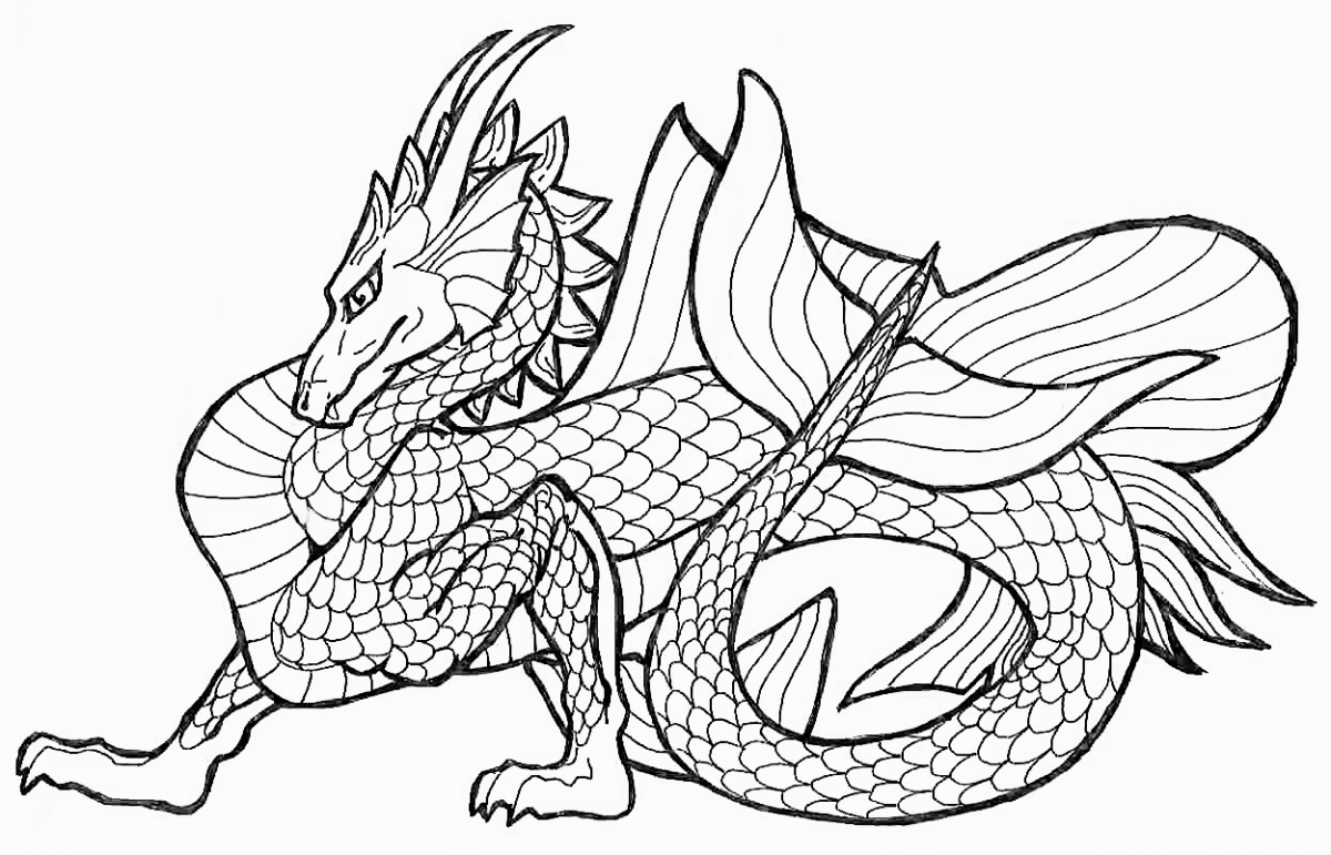 Dragon coloring #10, Download drawings