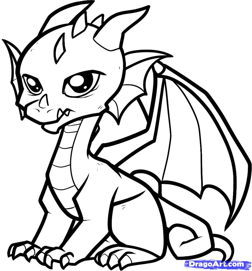 Dragon coloring #18, Download drawings