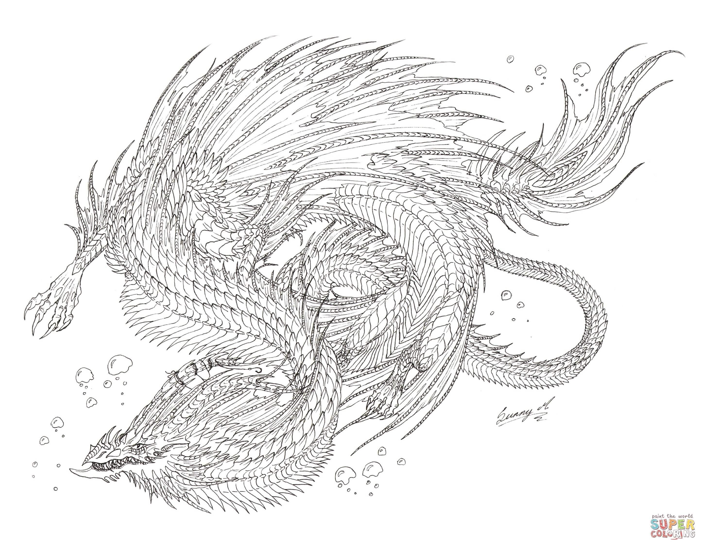 Draon coloring #6, Download drawings