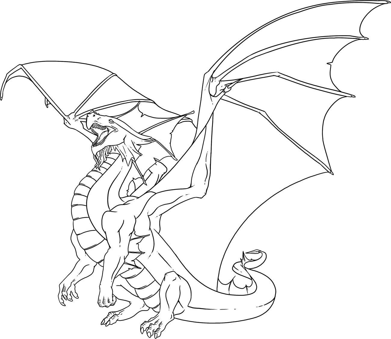 Draon coloring #3, Download drawings