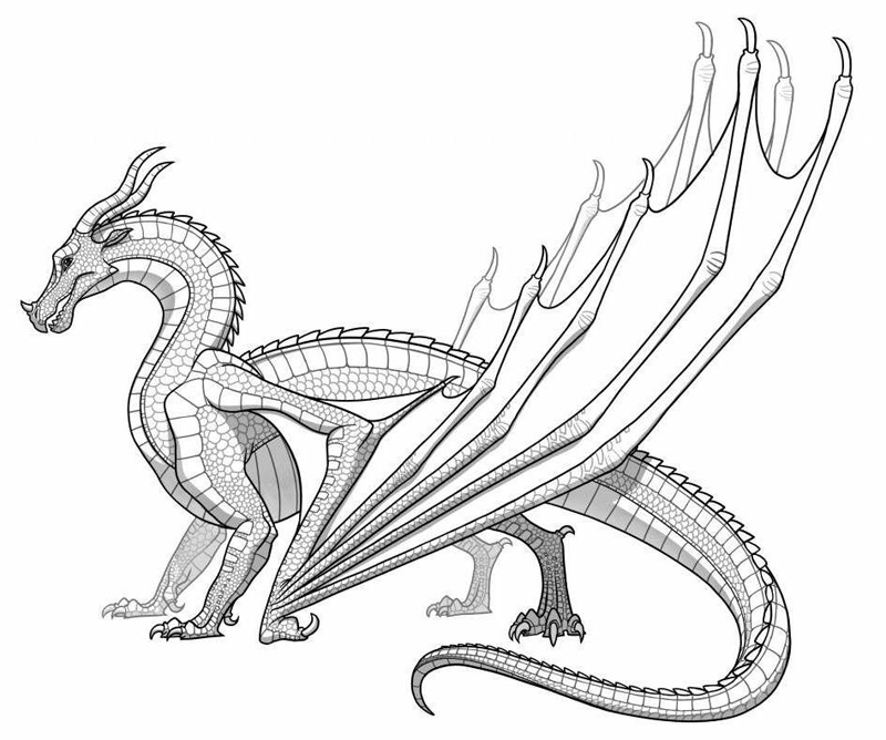 Draon coloring #9, Download drawings