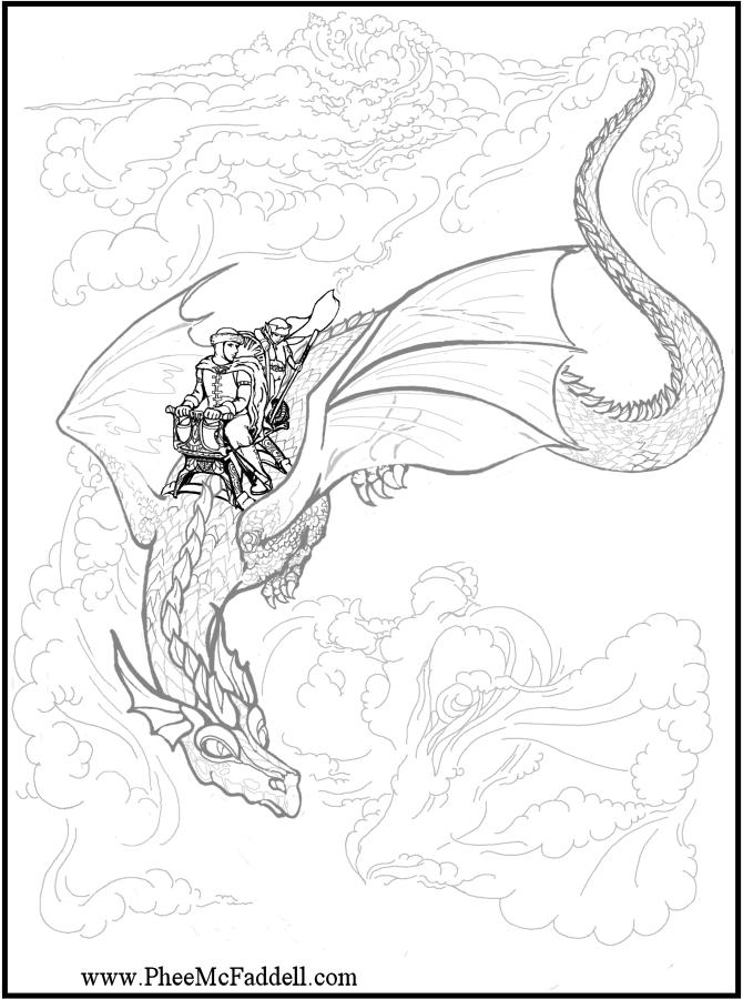 Dragon Rider coloring #20, Download drawings