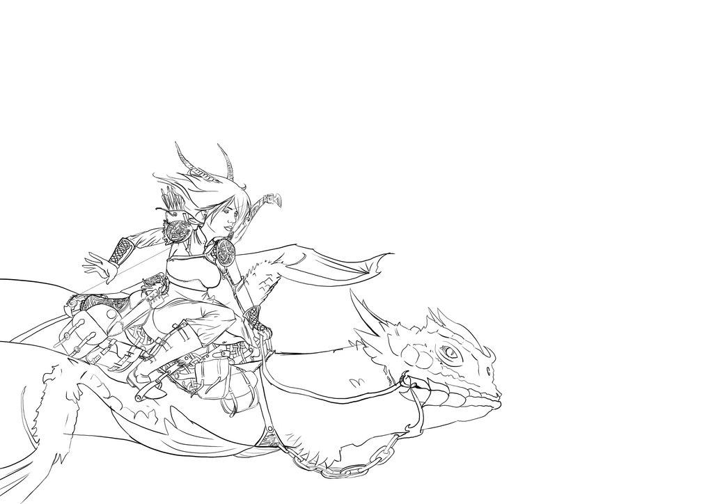 Dragon Rider coloring #8, Download drawings
