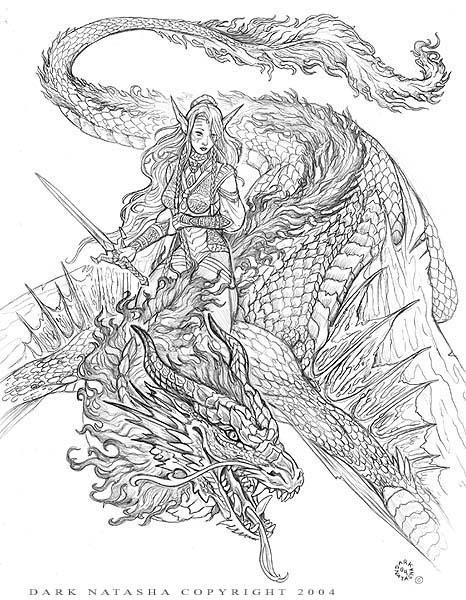 Dragon Rider coloring #4, Download drawings