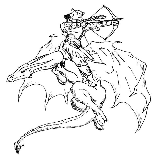 Dragon Rider coloring #19, Download drawings