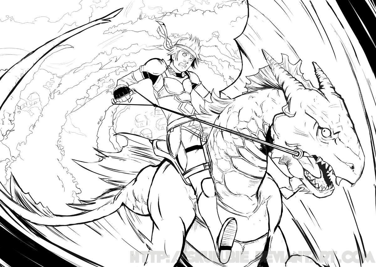 Dragon Rider coloring #2, Download drawings